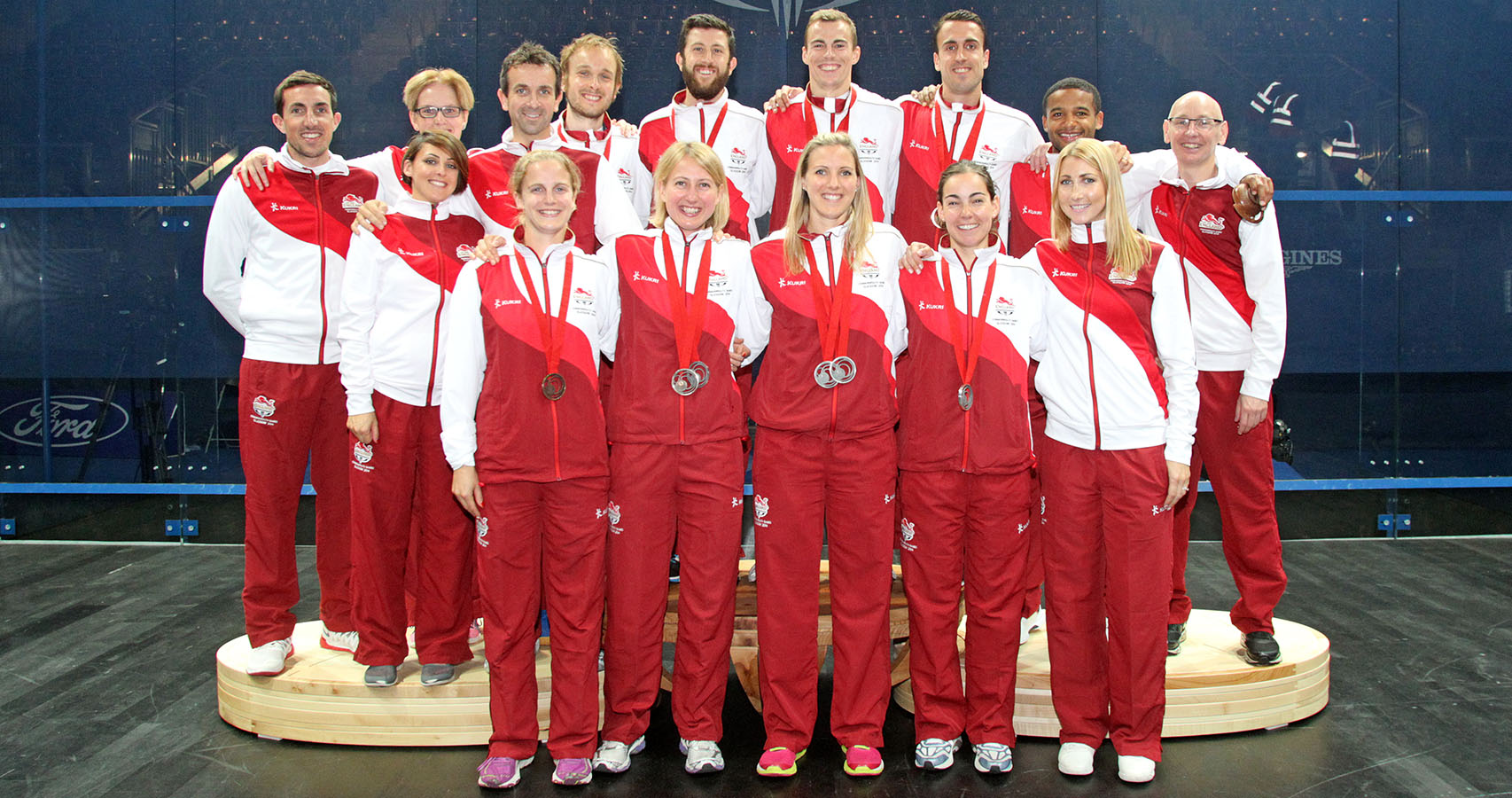 Team England at the 2014 Commonwealth Games in Glasgow