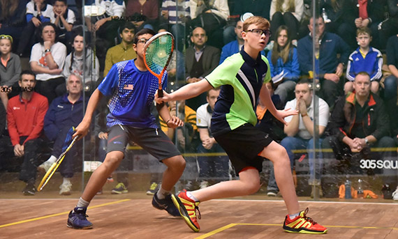 Sam Todd at the British Junior Open
