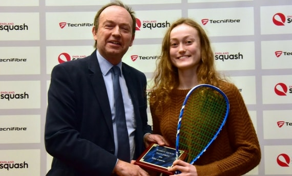 Elise Lazarus finished as runner-up in the British Junior Open U17 girls' draw