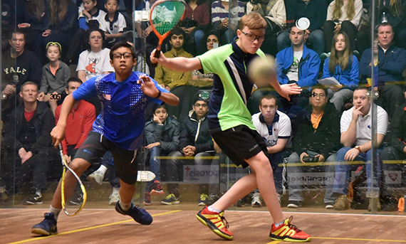 Sam Todd at the British Junior Open 2016 final