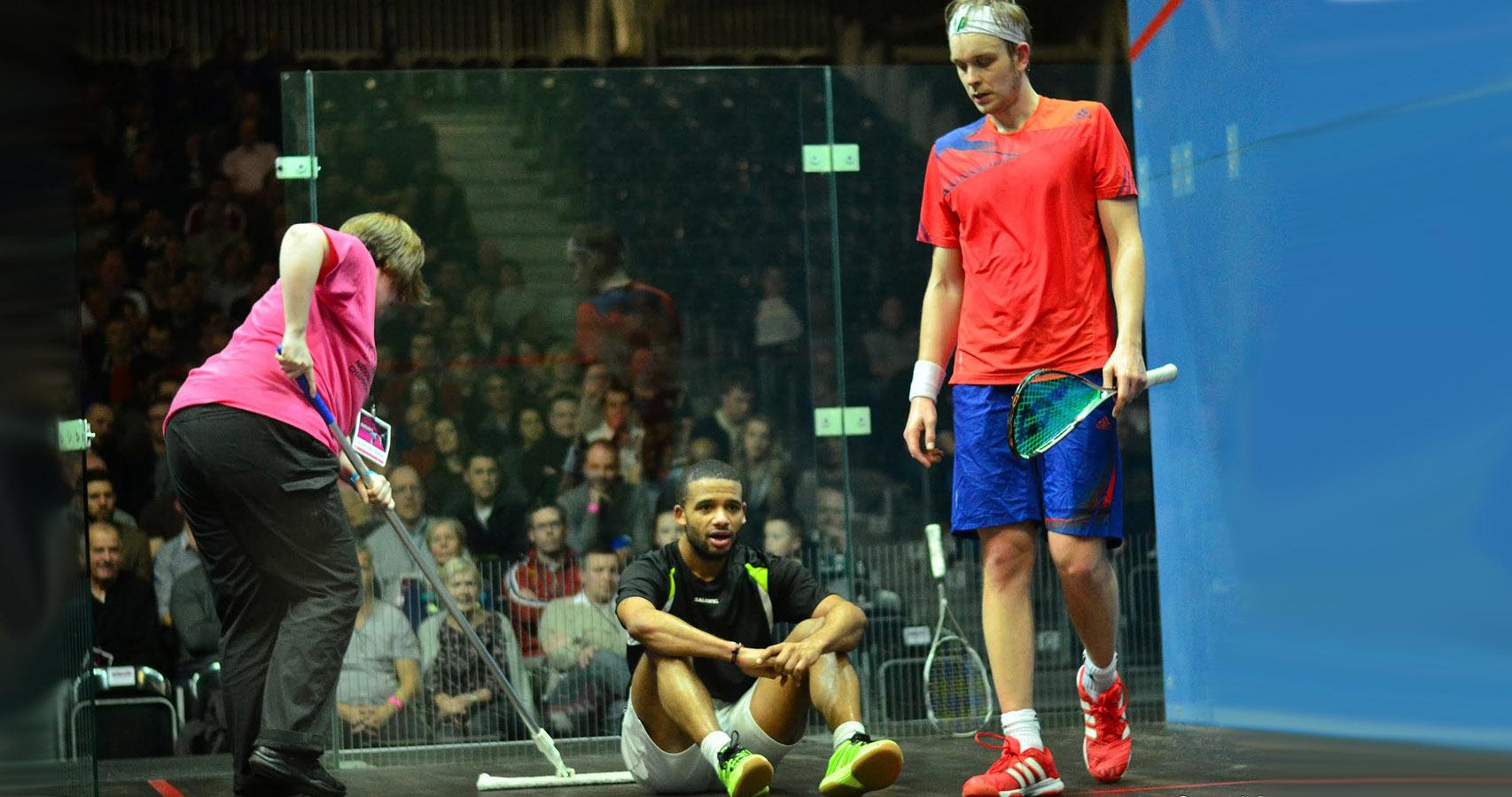 Volunteer at the National Squash Championships