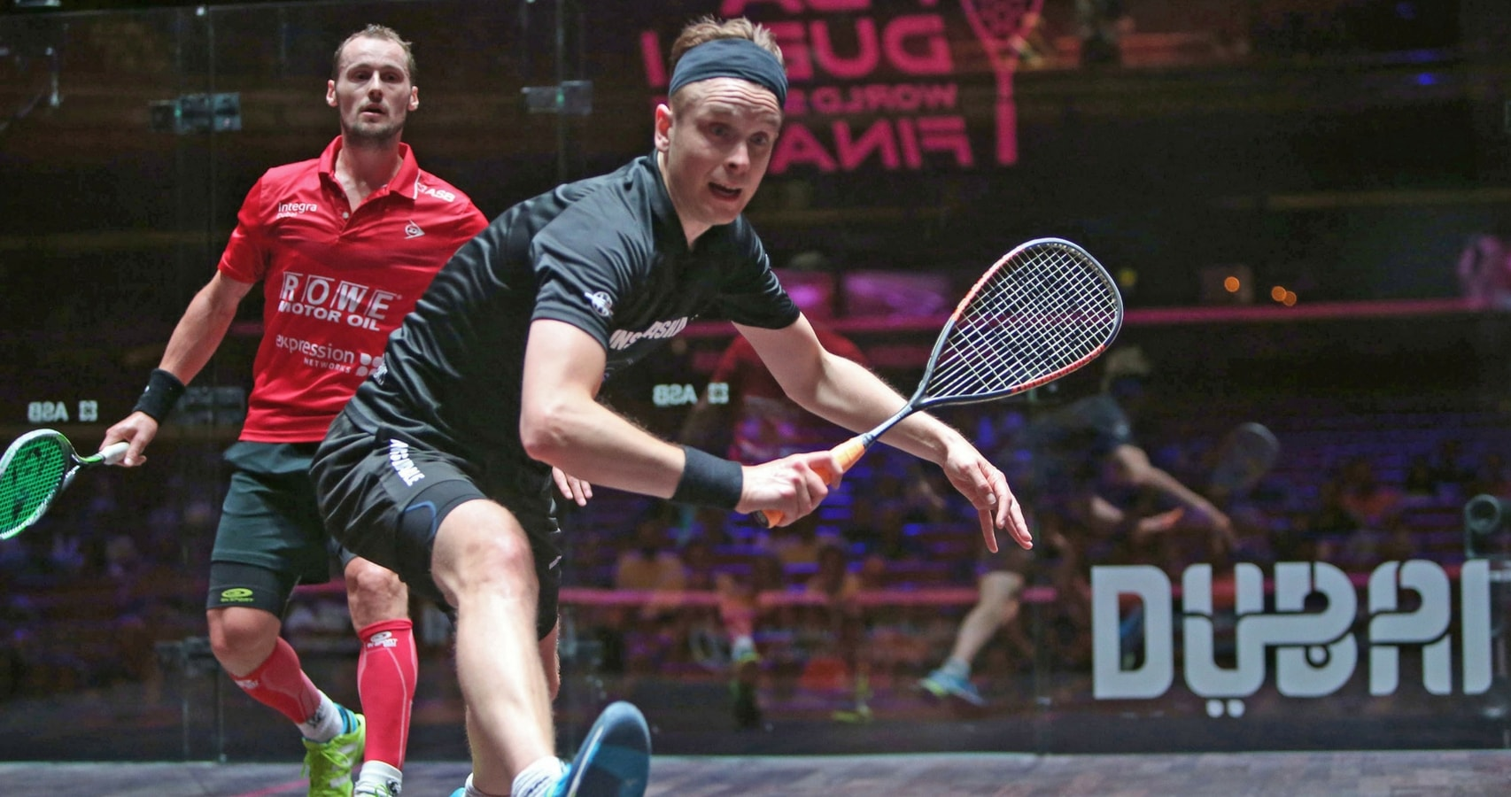 James defeated World No.1 Gregory Gaultier in the group stage of the event