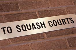 Squash court sign