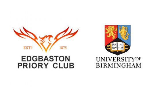Priory and University of Birmingham logos