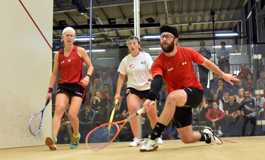 Daryl Selby and Alison Waters face New Zealand's Paul Coll and Joelle King in the final of the mixed doubles draw