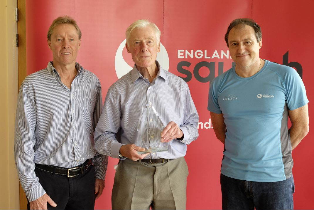 John Woodliffe was presented with his award by former world champion Ross Norman and Giordano Orsini