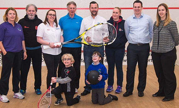 Leyland Lions Squash and Squash 57 Club at the launch of DEAFinitely Inclusive