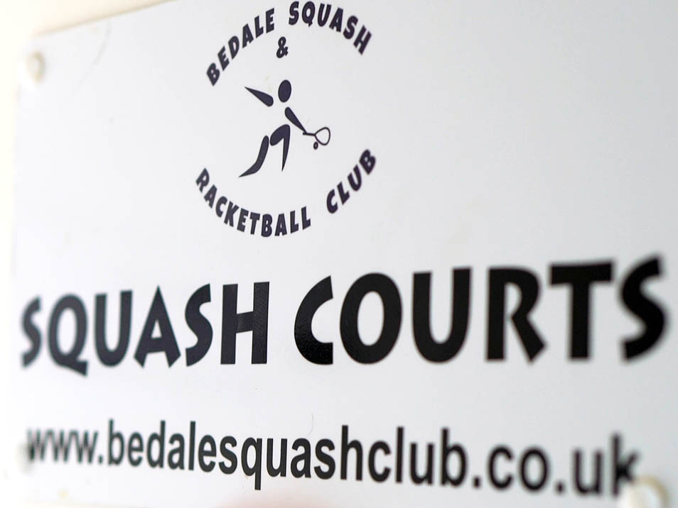 Bedale Squash and Racketball club sign