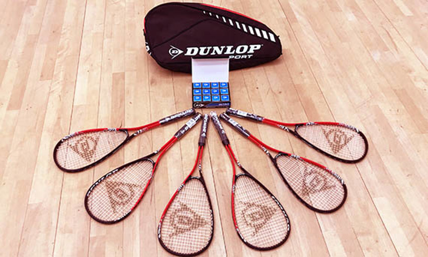 Squash Girls Can kit bag provided by Dunlop