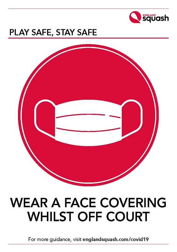 Wear a face covering poster