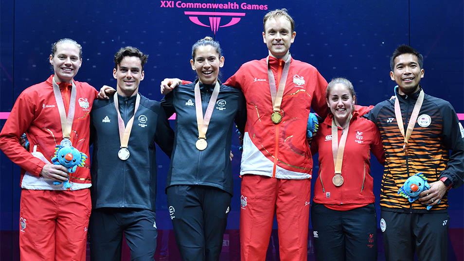 Squash singles winners at the 2018 Gold Coast Commonwealth Games