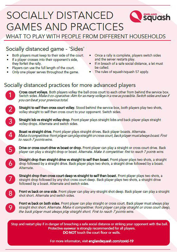 Socially distanced games and practices poster