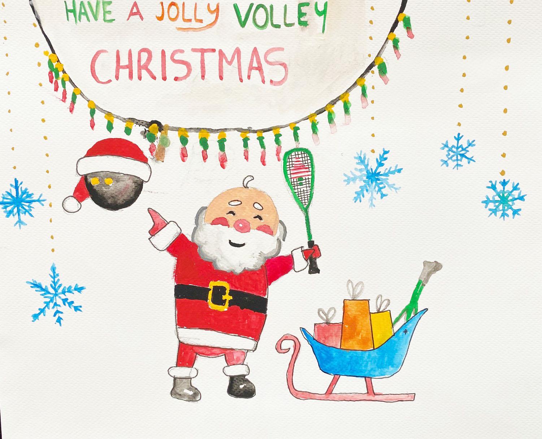Winning christmas card design