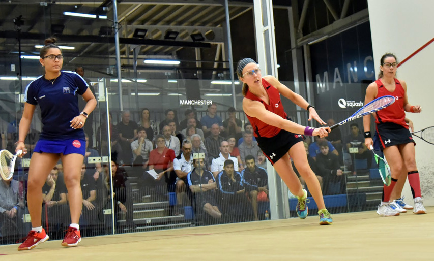Alison Waters and Jenny Duncalf will face New Zealand's Joelle King and Amanda Landers-Murphy in the final of the women's doubles