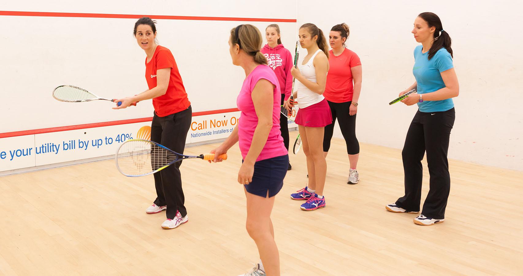Squash Girls Can coaching