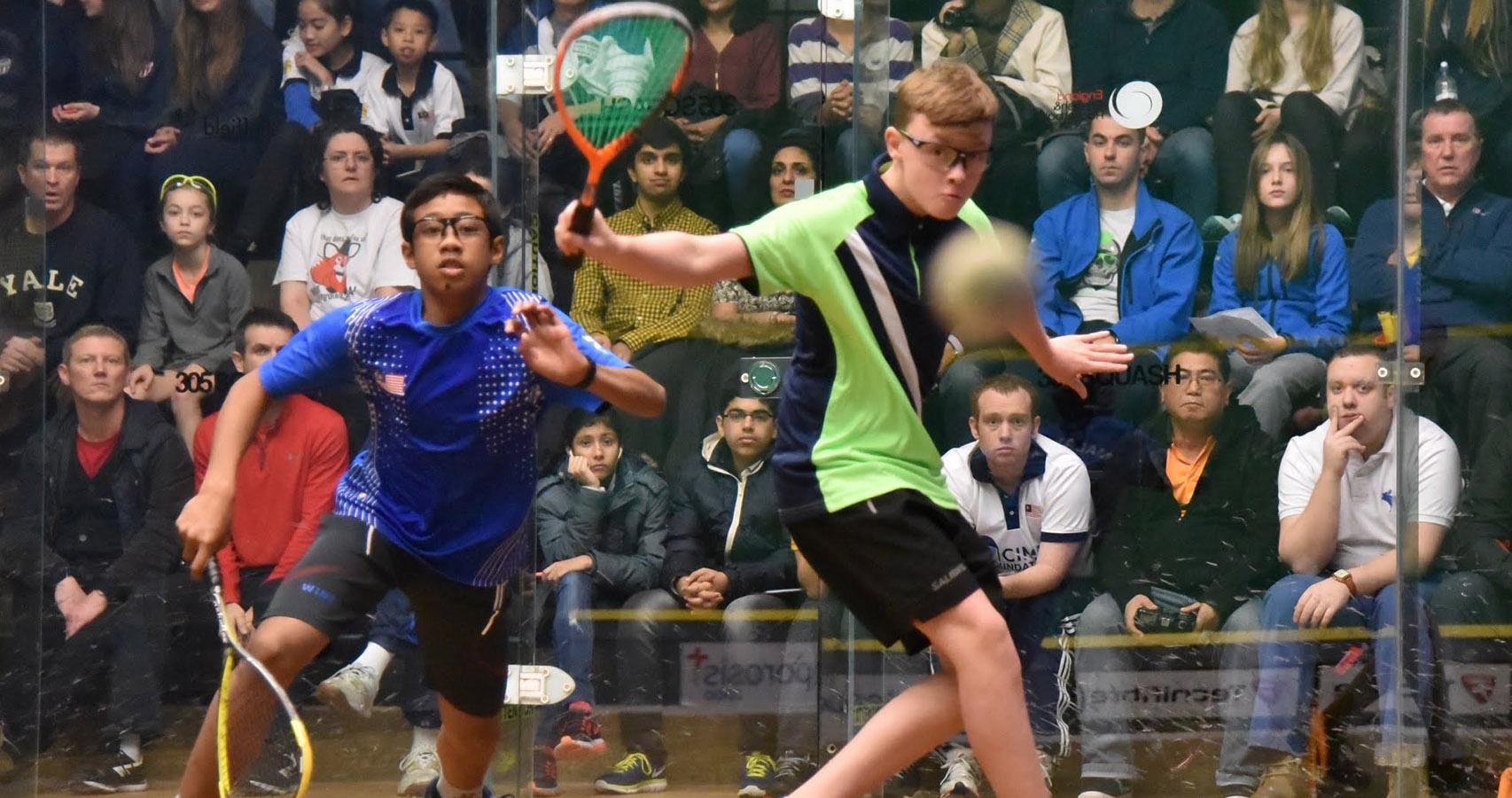 Sam Todd in the 2016 British Junior Open Under 13 Final