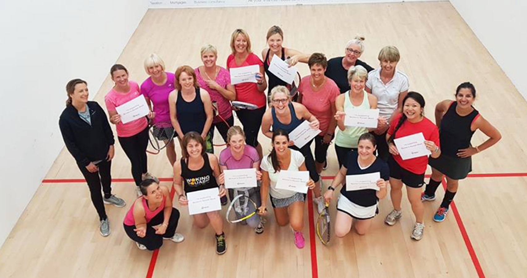 Ladies at Woking Squash Club celebrate Women's Squash Week 2018