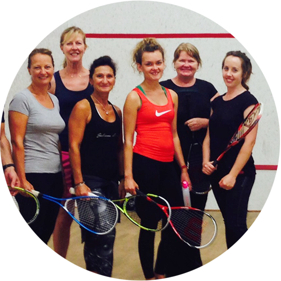 Women and Girls squash at Fleming Park Leisure Centre