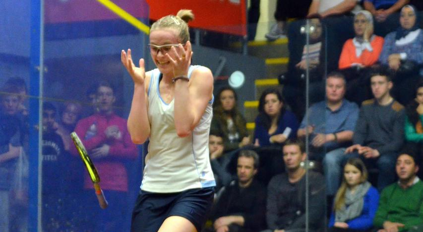Emily Whitlock at the British Junior Open
