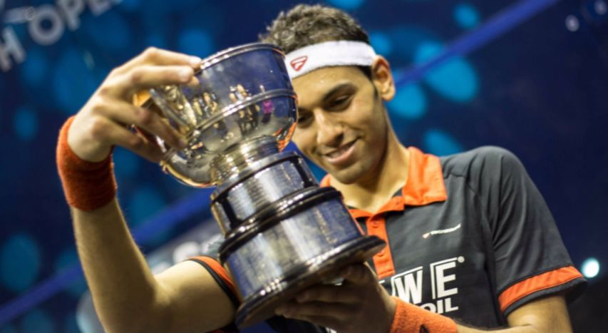 Mohamed ElShorbagy at the British Open
