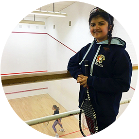 Squash Girls Can participant Nikhita