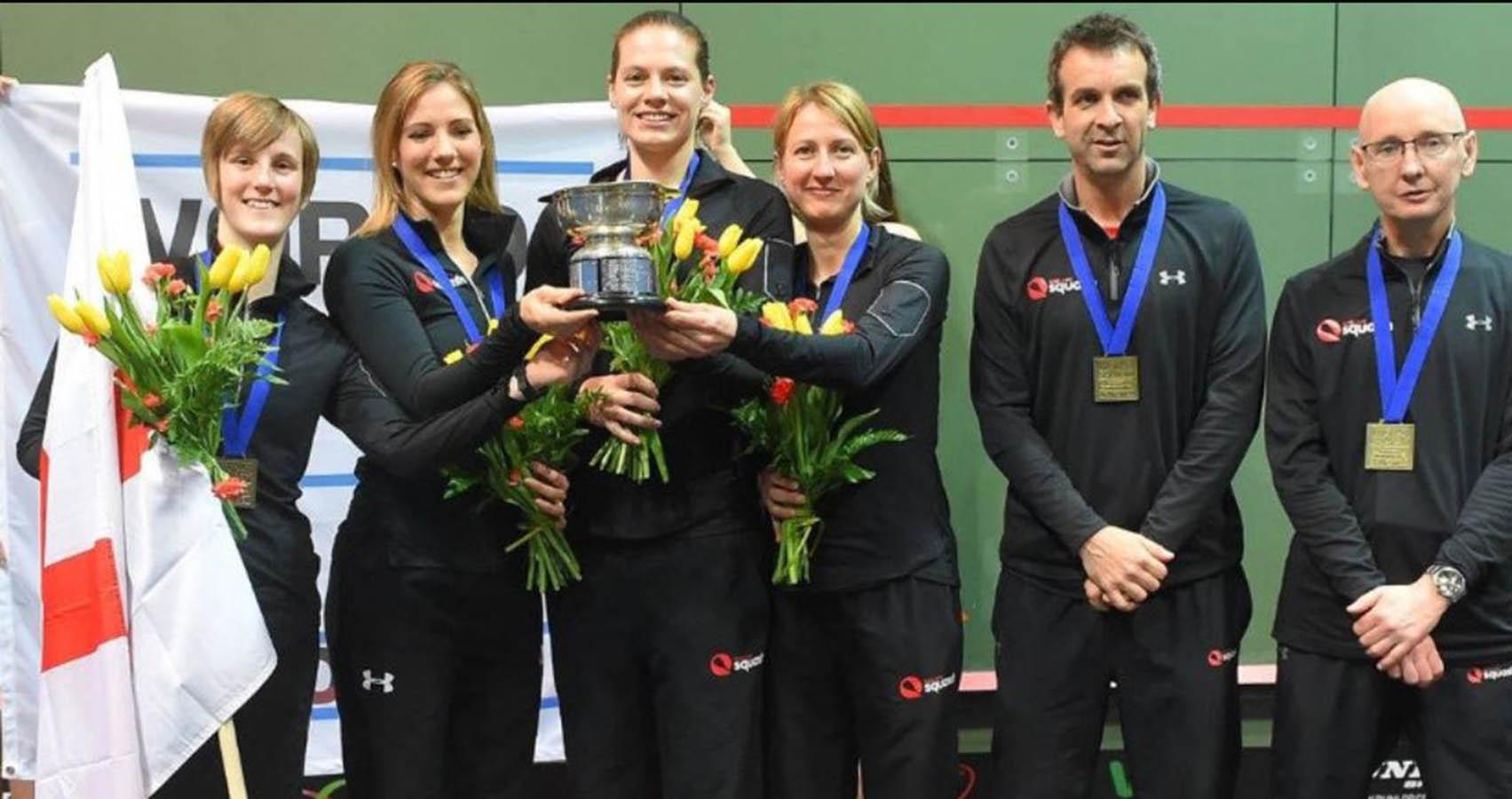European  Senior Team Squash Champions 2016, Team England