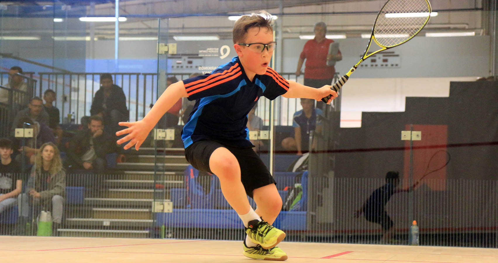 Young squash player