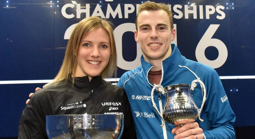 Nick Matthew and Laura Massaro at the British Nationals